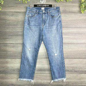 NWT J Crew Slim Boyfriend Distressed Raw Hem Jeans